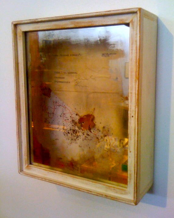 Mixed-media artwork Soviet Mirror by Mark Garrett
