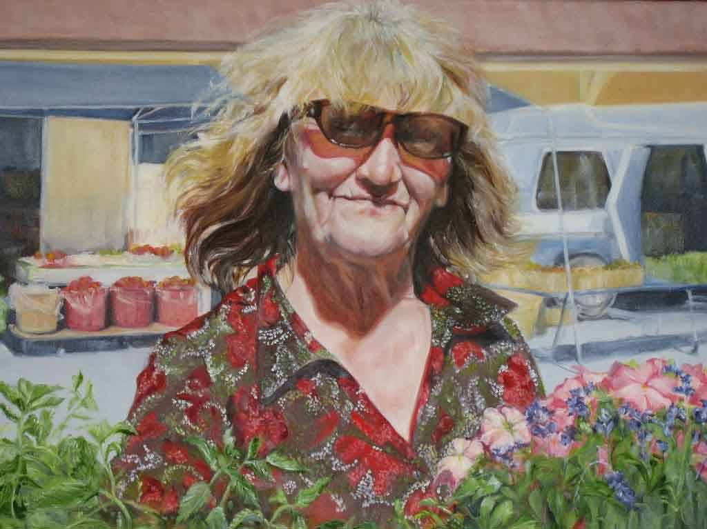 Oil painting Hildegard Wirshing               by Judith  Elsasser