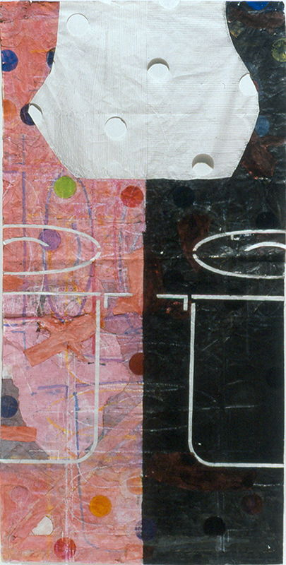 Mixed-media artwork Day/Night by Judy Southerland
