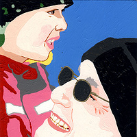 Acrylic painting Dave And Sammy by Phil Cummings
