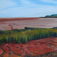 Oil painting Low Tide Shoreline by Michael McEwing