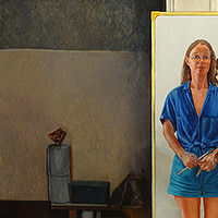 Oil painting Self-portrait by Judy Southerland