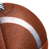 Print Football by Sue Ellen Brown