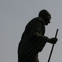 Gandhi statue by Belinda Harrow