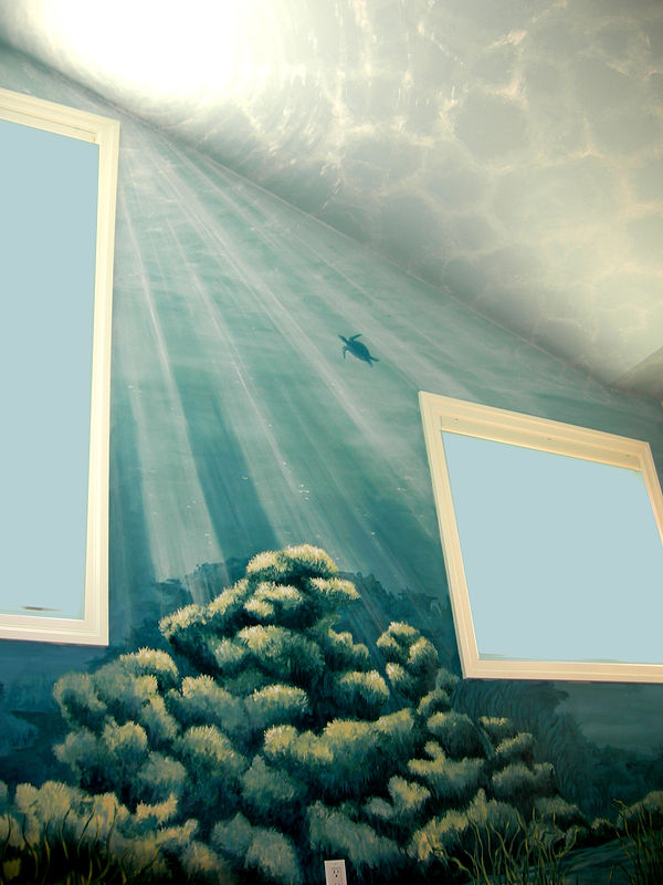 Underwater Mural - Wall and Ceiling View by Cindy Scaife