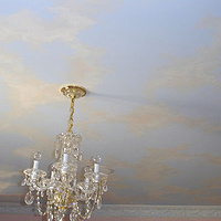 Painting SKY CEILING MURAL - Girl's Room by Cindy Scaife