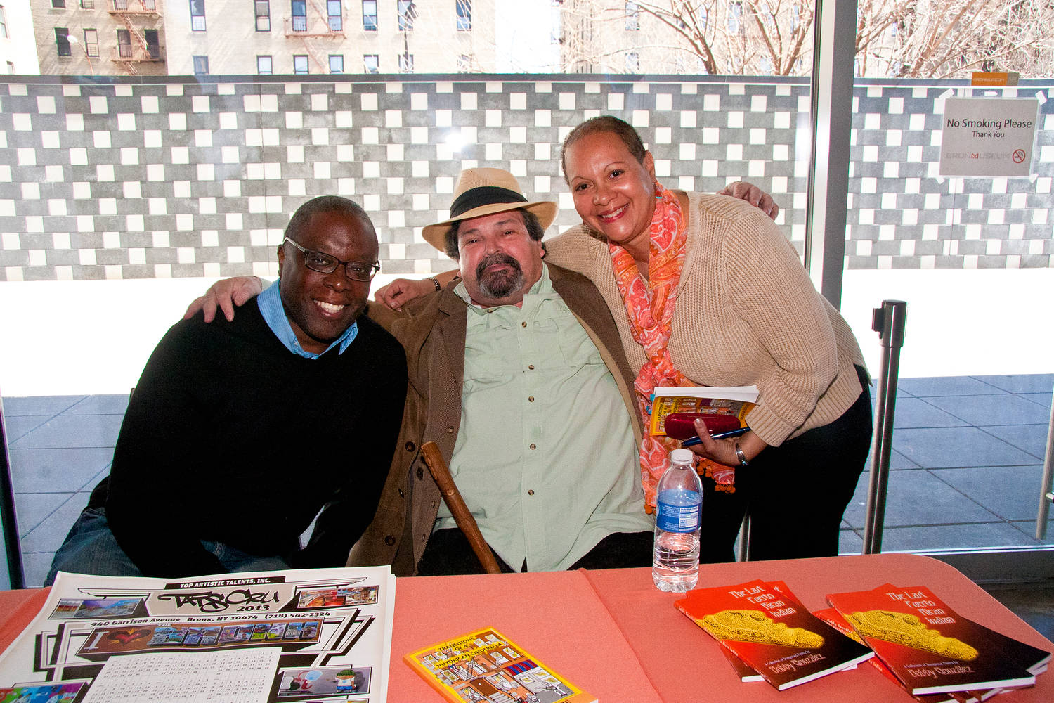 Publisher Ron Kavanaugh, Bill Aguado & Writer/Performer Maria Aponte  by Linda Bonilla