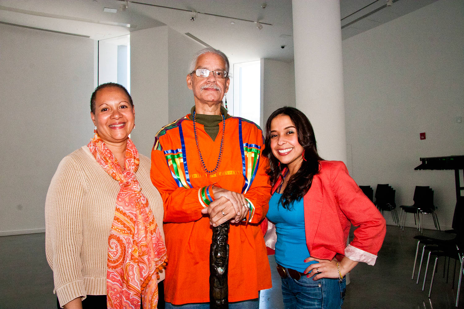 Artists Maria Aponte, Bobby Gonzalez and Peggy Robles Alvarado by Linda Bonilla