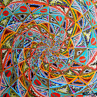 Acrylic painting Spiral Abstract by Phil Cummings