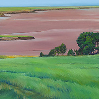 Oil painting Looking Down from the Meadow by Michael McEwing