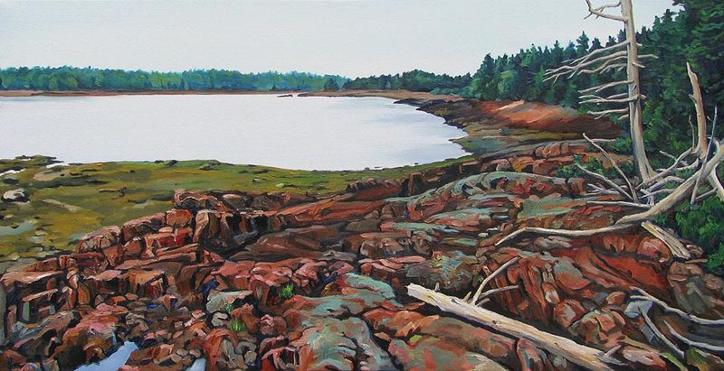Oil painting Orr's Point by Michael McEwing