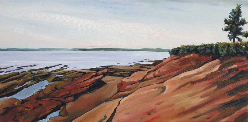 Oil painting By Joe's Point by Michael McEwing
