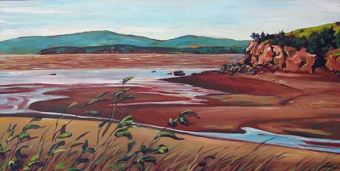 Acrylic painting Dorchester Cape by Michael McEwing