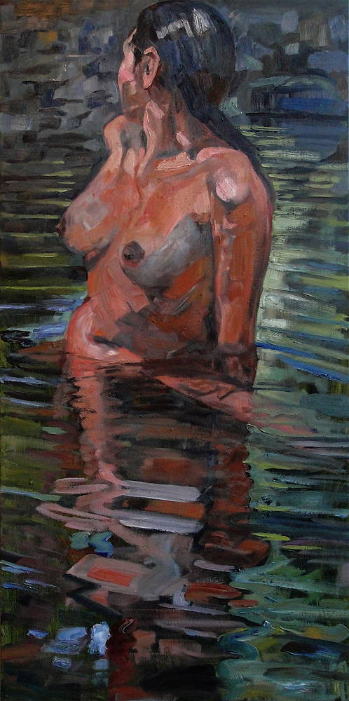 Oil painting Woman Awash by Edward Miller