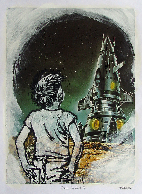 Print Dans La Lune No. 2 by Michael McEwing