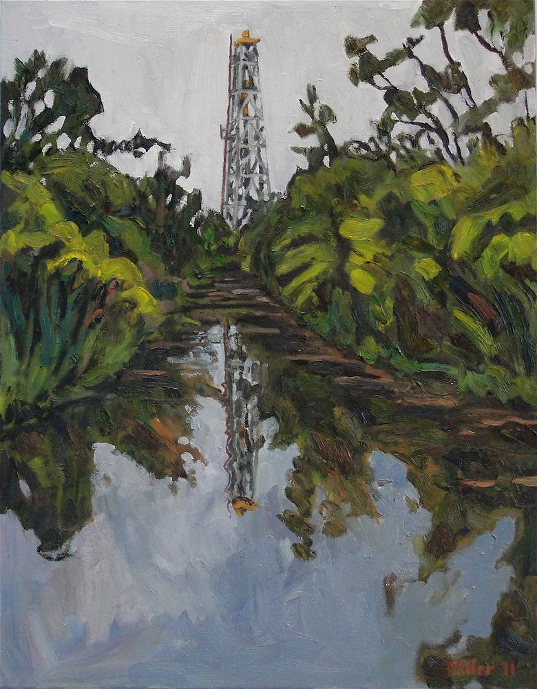 Oil painting King of the Bayou #3 by Edward Miller