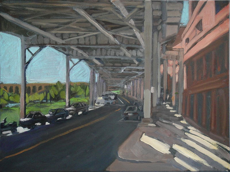 Oil painting Under the Whitehurst by Edward Miller