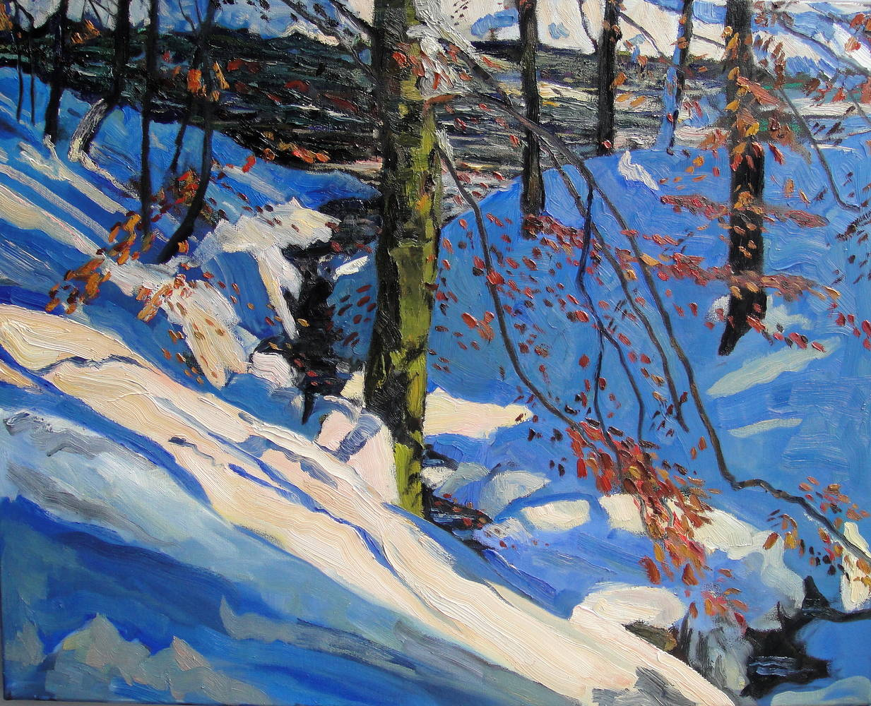 Oil painting Blue Creekside by Edward Miller