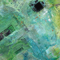 Mixed-media artwork MicroViridae Remission (Part 2 of 3) by Michael McEwing