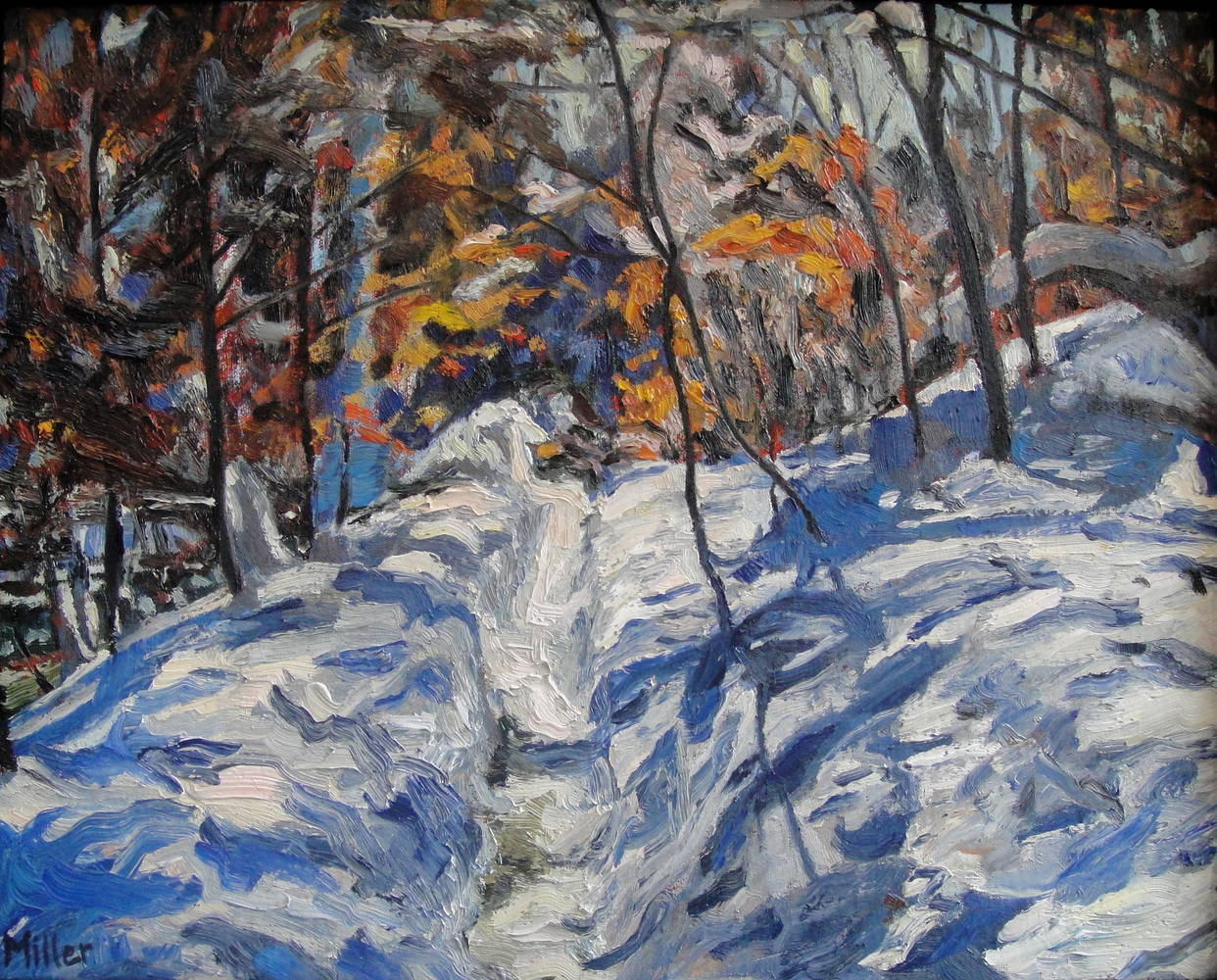 Oil painting Creekside Path #2 by Edward Miller