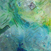 Mixed-media artwork MicroViridae Remission (Part 3 of 3) by Michael McEwing