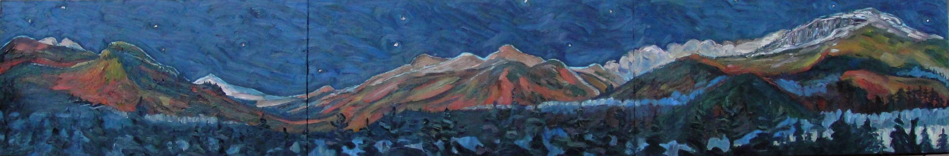 Oil painting October Moonrise by Edward Miller