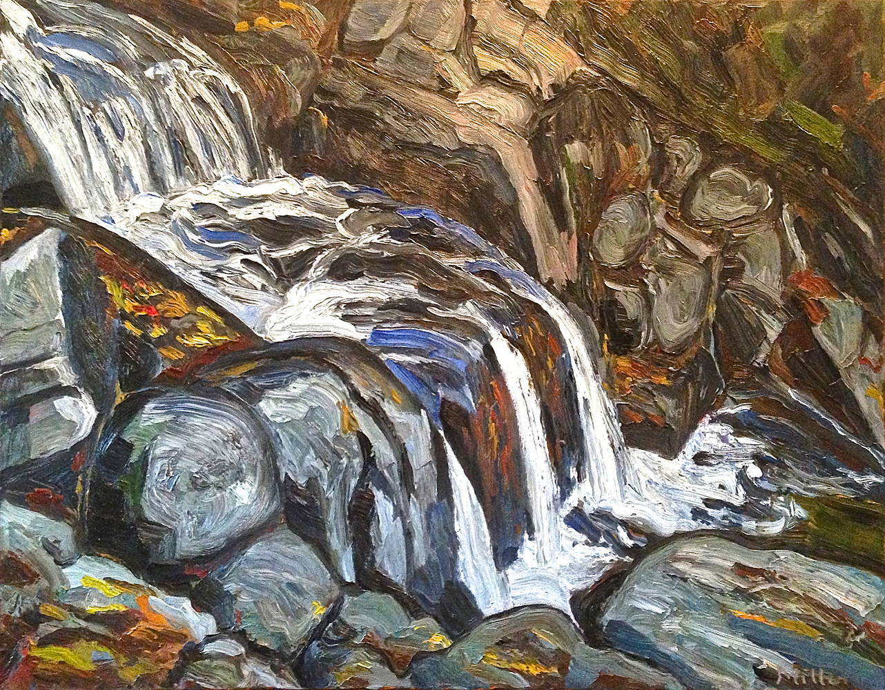 Oil painting Trinity Falls from Above by Edward Miller