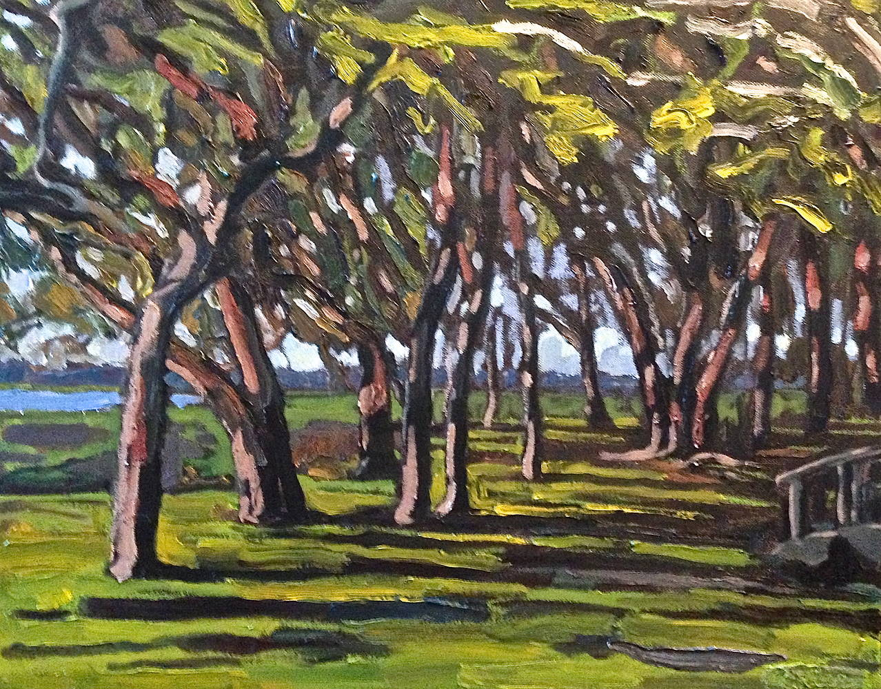 Oil painting Musgrove Wood by Edward Miller
