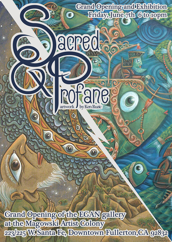 "Painting ""Sacred and Profane""  Opening June 7th-Closing Reception June 22nd by Kenneth M Ruzic"