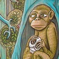 Acrylic painting the Monkeys by Kenneth M Ruzic