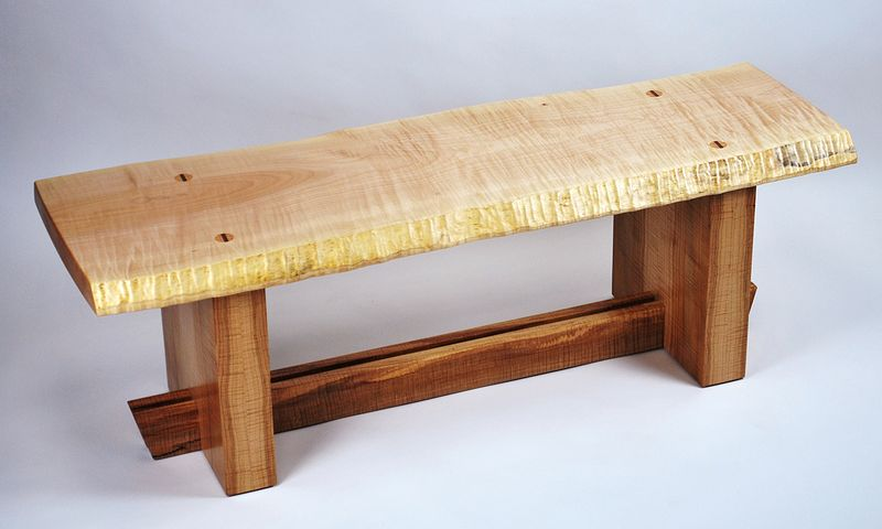 Wester maple bench madera fina studio furniture wester maple bench sciox Gallery