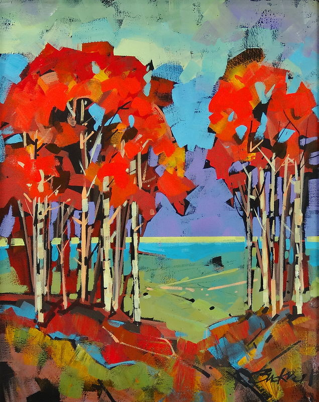 Escarpment View  Acrylic   16x20 2013 by Brian  Buckrell