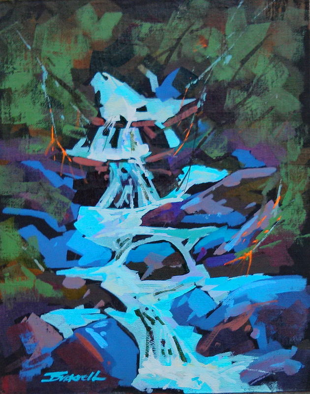 Spring Runoff    Acrylic 11x14 2013 by Brian  Buckrell
