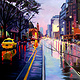 Oil painting Flinders Street  by Guntis Jansons