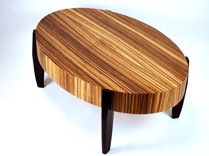 zebrawood- wenge center table - madera fina studio furniture