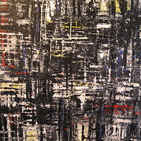 Acrylic painting Urban Rhythms #5 by David Tycho