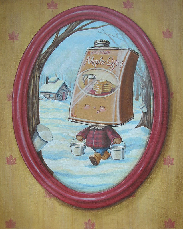 Acrylic painting MAPLE SYRUP by Cindy Scaife