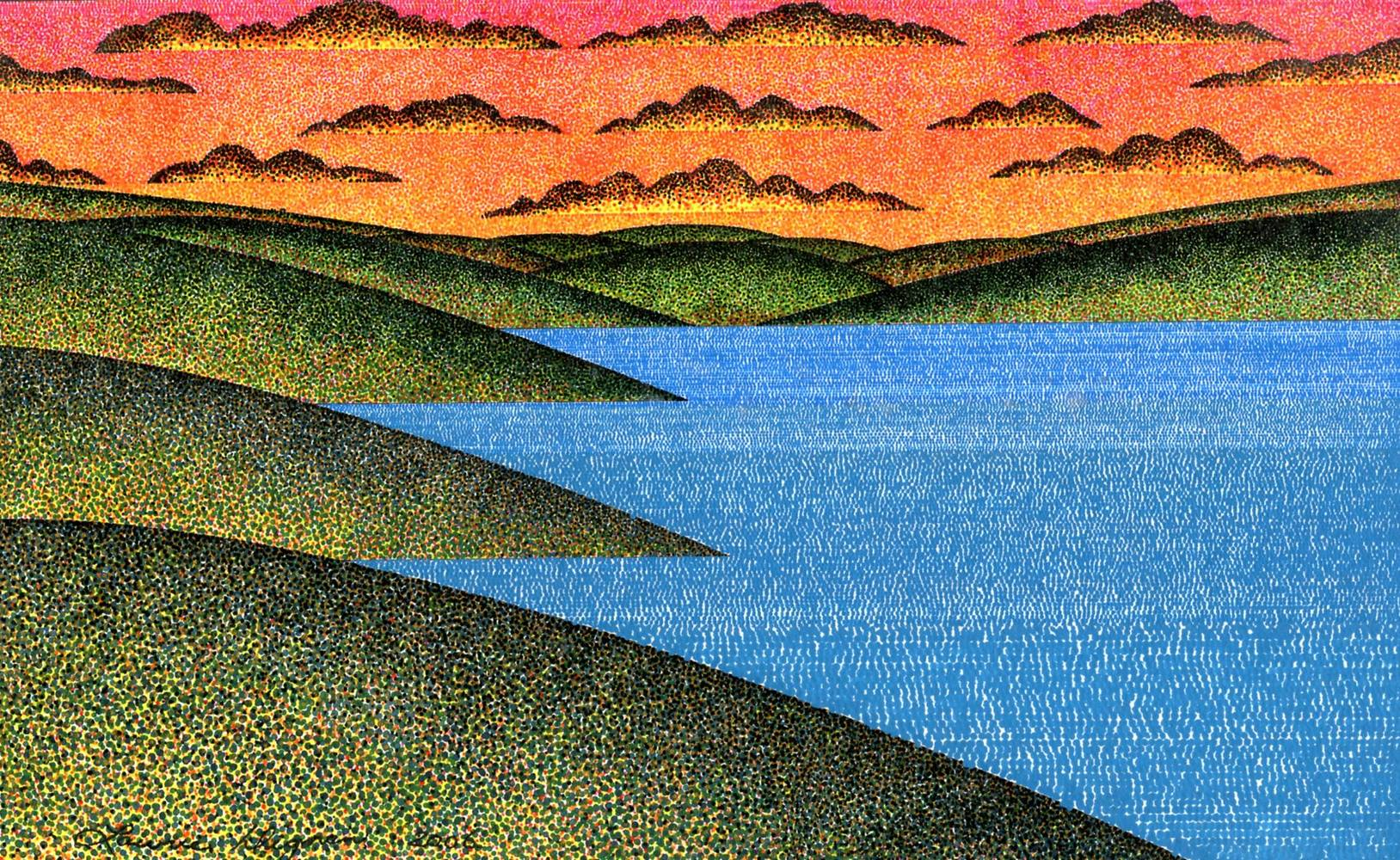 Print Cariboo Sunset by Lawrie  Dignan