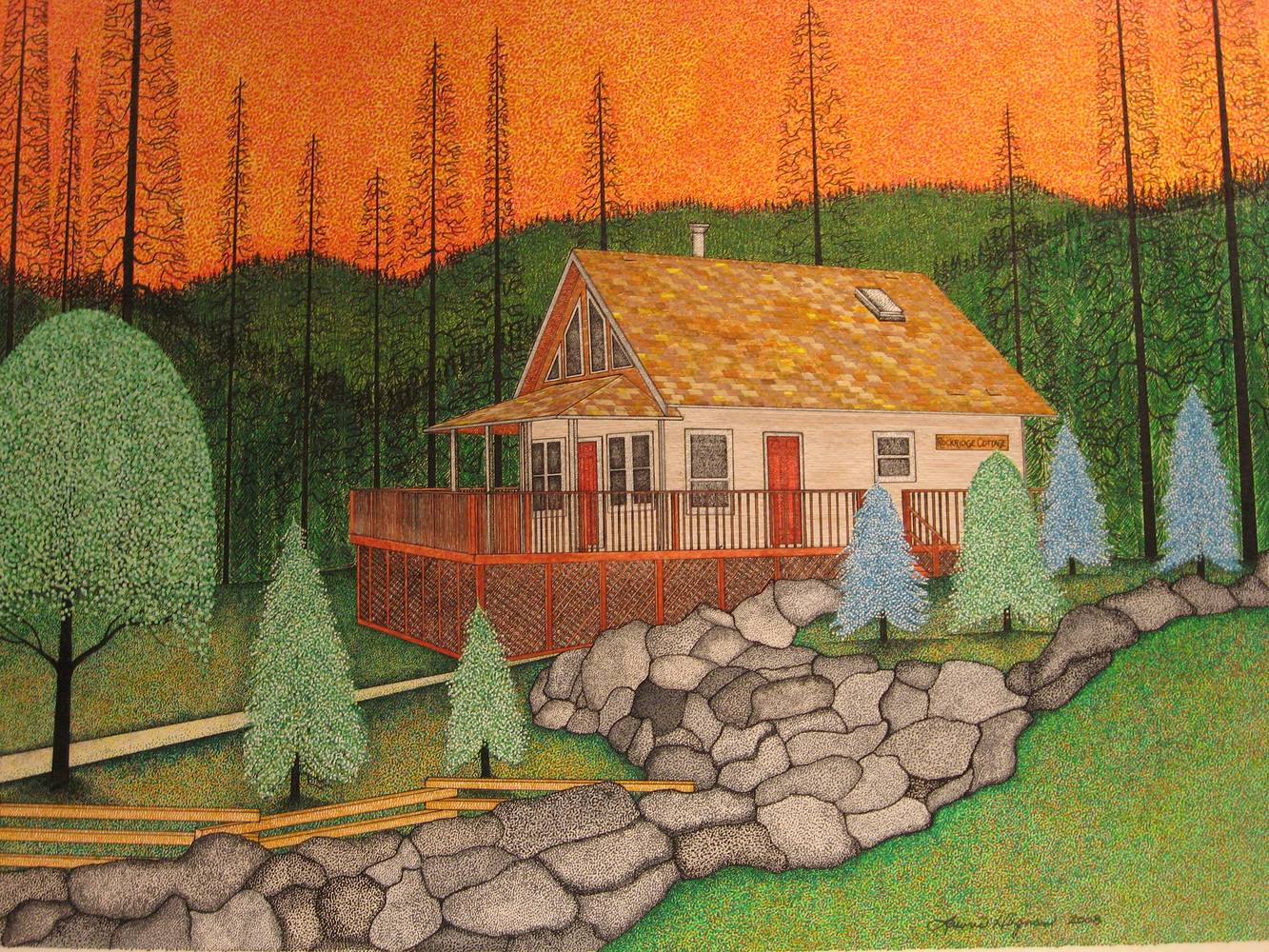Drawing Don's Cottage by Lawrie  Dignan