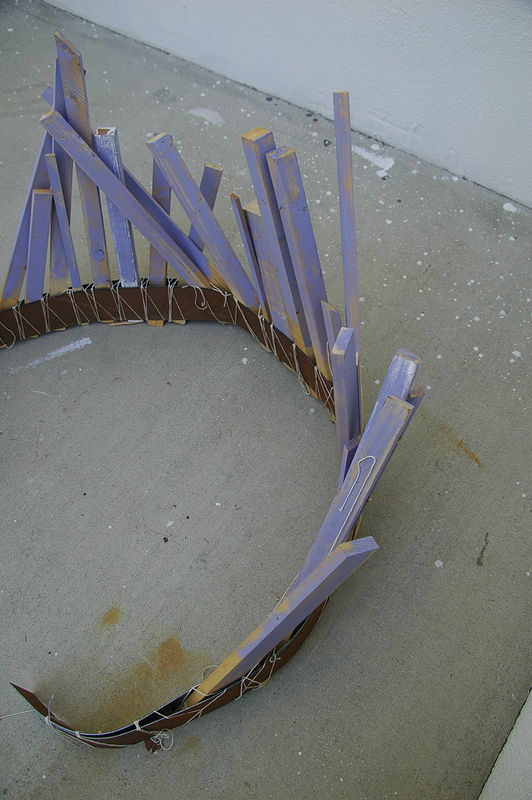 Painting Stick Fence (Detail 3) by Jacqueline Bell johnson