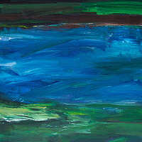 Acrylic painting River #10 by David Tycho