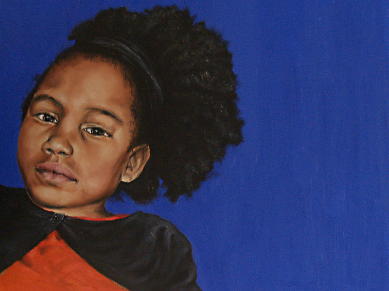 Oil painting Maisie - A Portrait study by Richard Mountford
