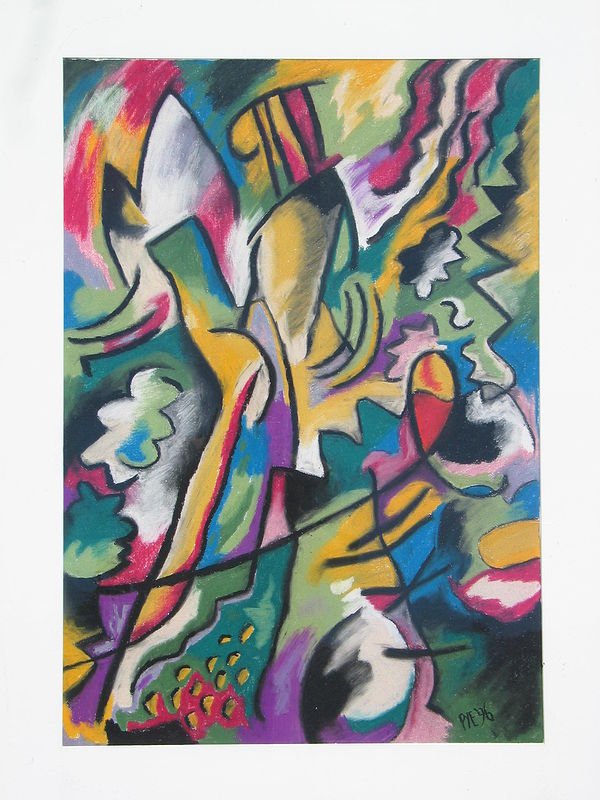 Drawing Abstraction Caused by Kandinsky by Trevor Pye