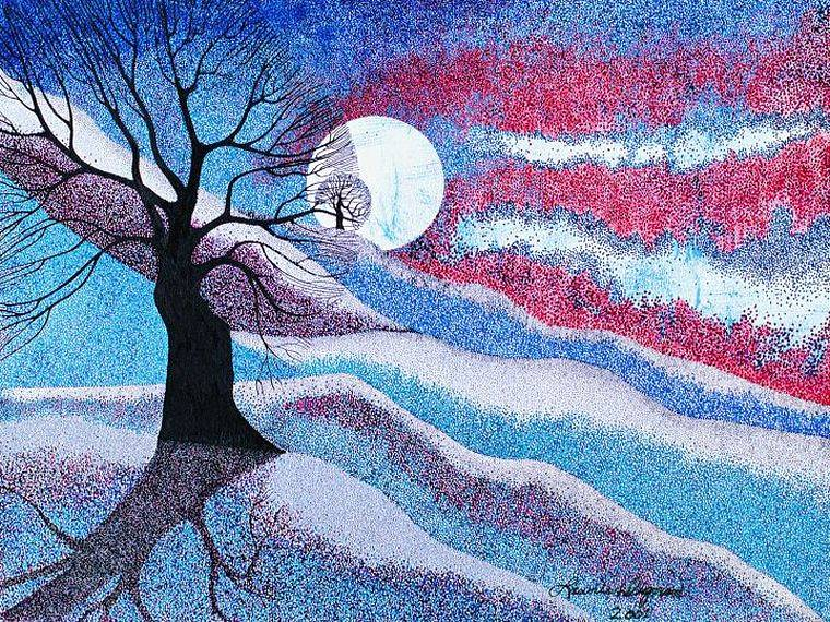 Print Blue Moon by Lawrie  Dignan