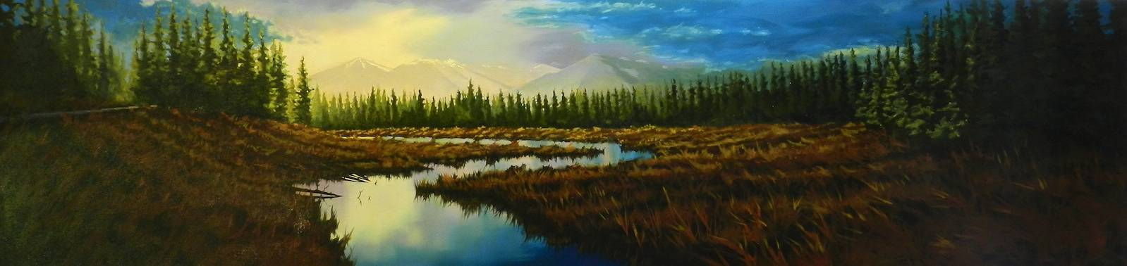 Oil painting Radium Sunset by Bryan  Coombes