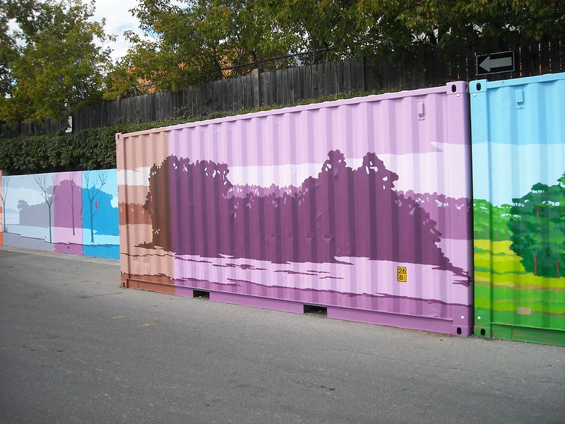 Painting Loblaws - Dupont and Christie Toronto - Shipping Container by Cindy Scaife