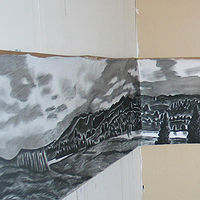 Drawing Corner Scape by Trevor Pye