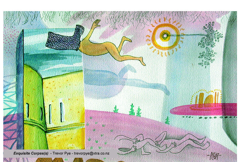 Watercolor Exquisite Corpse(s) by Trevor Pye
