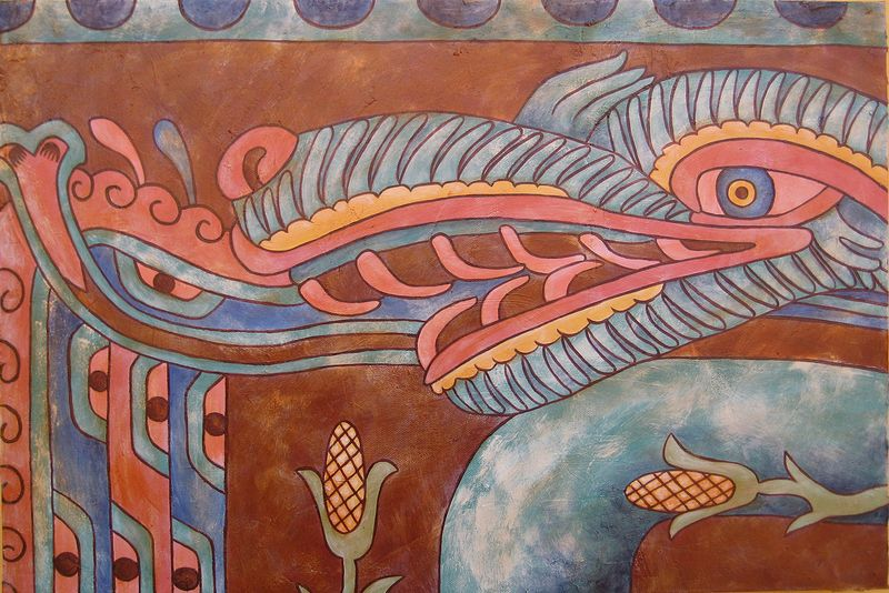 Acrylic painting Regando las Semillas (Watering the Seeds) by Emily K. Grieves