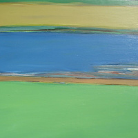 Acrylic painting River #26 by David Tycho